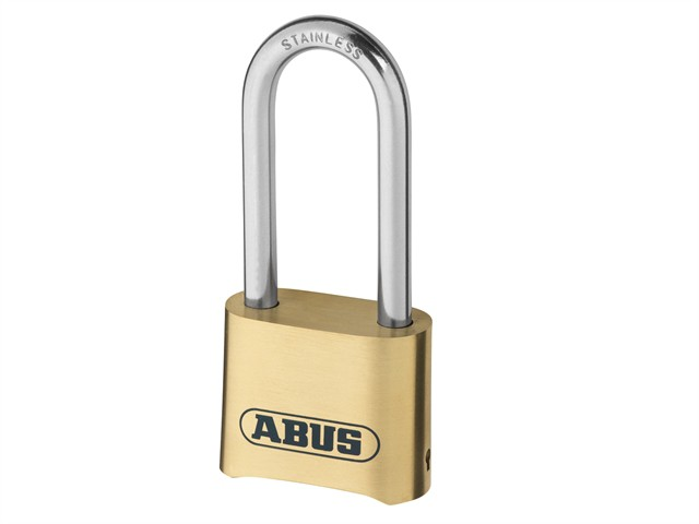 180IB/50HB63 50mm Brass Body Combination Padlock Long Shackle (4-Digit) Carded