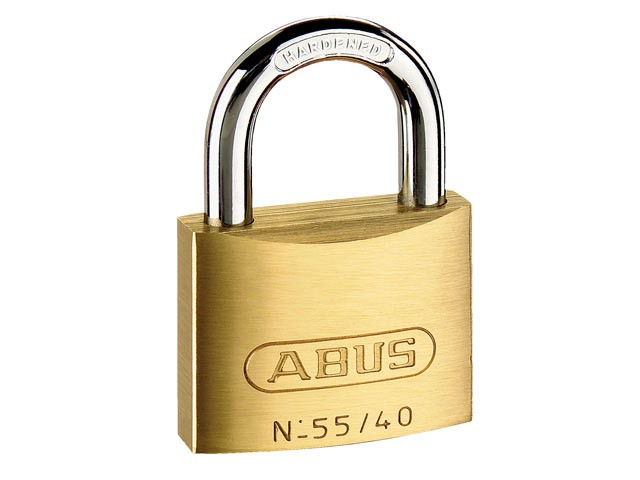 55/40 40mm Brass Padlock Quad Pack 33698