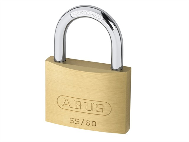 55/60 60mm Brass Padlock Carded