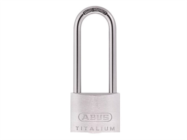 64TI/50HB80 Titalium Padlock 50mm x 80mm Long Shackle Keyed KA6511