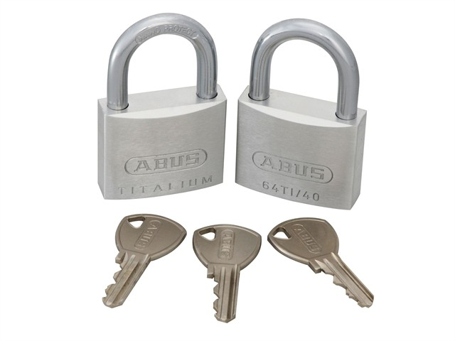 64TI/40mm TITALIUM™ Padlock Twin Pack