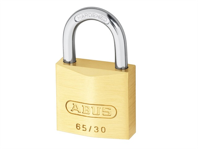 65/30mm Brass Padlock Twin Carded