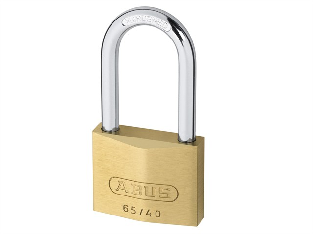65/40mm Brass Padlock 40mm Long Shackle Carded