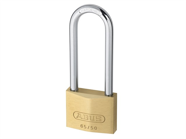 65/50HB80 50mm Brass Padlock 80mm Long Shackle Carded