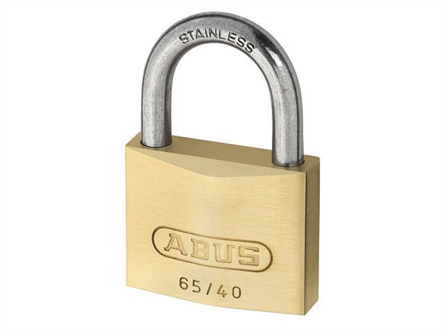 65IB/40mm Brass Padlock Stainless Steel Shackle Twin Pack