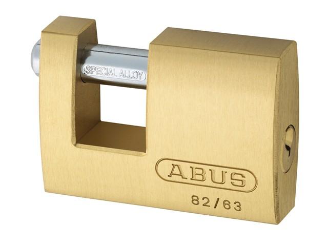 82/63 63mm Monoblock Brass Shutter Padlock Carded