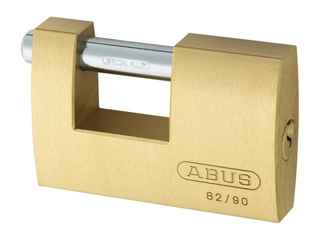 82/90 90mm Monoblock Brass Shutter Padlock Keyed 8523
