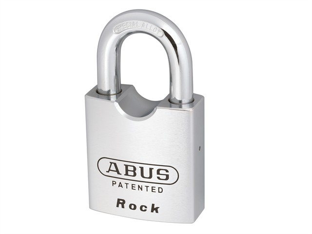 83/55 55mm Rock Hardened Steel Body Padlock Open Shackle Carded
