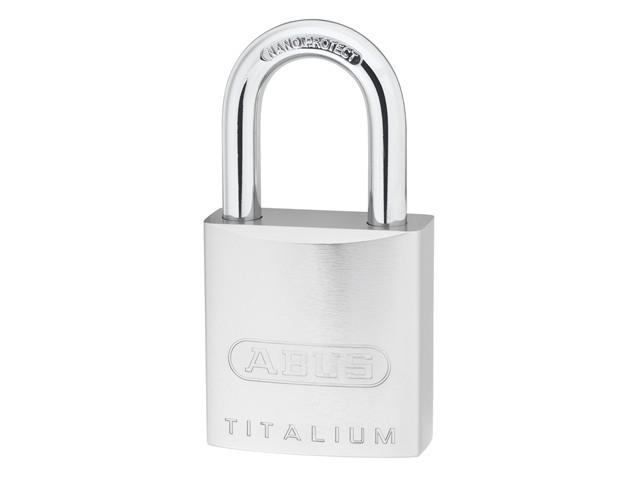 86TI/55 Titalium Padlock - Half Euro Cylinder