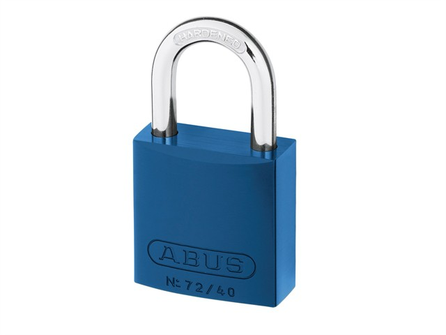 72/40 40mm Aluminium Padlock Blue Keyed TT60121