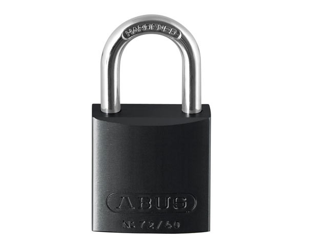 72/40 40mm Aluminium Padlock Black Keyed TT00260