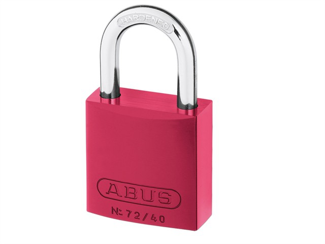 72/40 40mm Aluminium Padlock Red Keyed TT02162