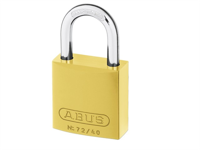 72/40 40mm Aluminium Padlock Yellow Keyed TT60123