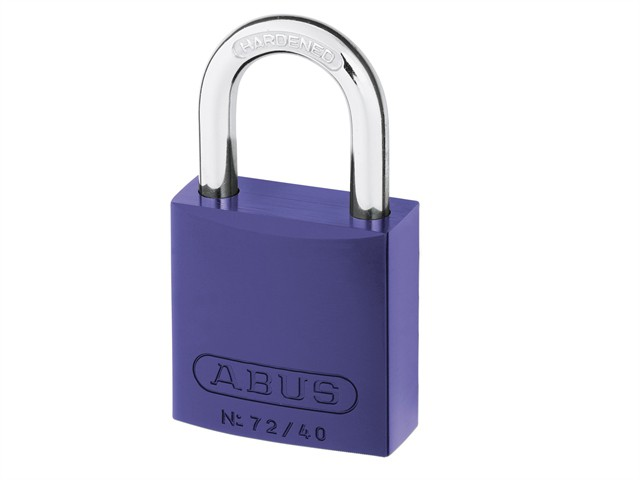 72/40mm Aluminium Padlock Violet Keyed Alike TT04072