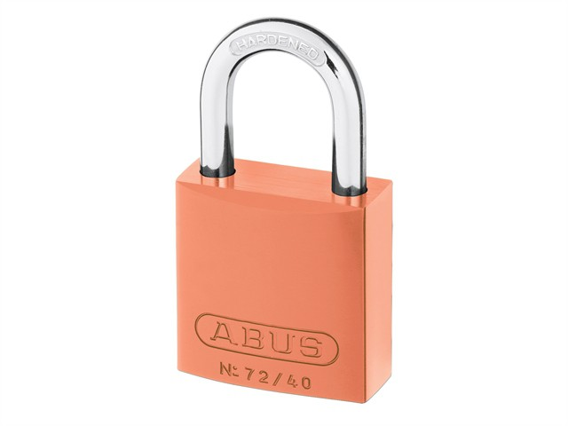 72/40 40mm Aluminium Padlock Orange Keyed TT02767