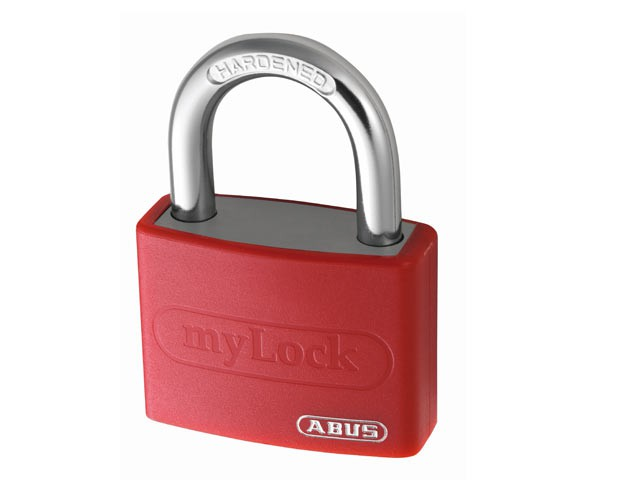 T65AL/40mm My Lock Aluminium Padlock Red Keyed Alike 6401