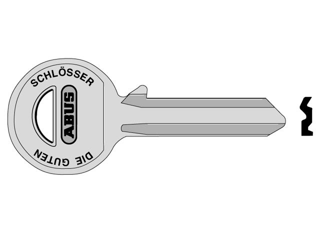 85/50 50mm +60 Right Hand Key Blank