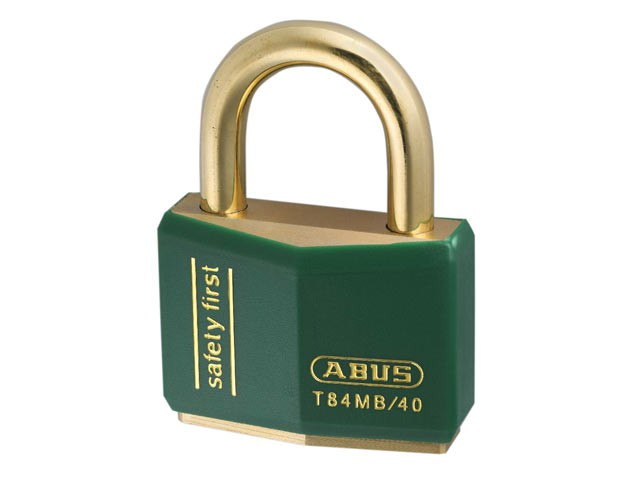 T84MB/40 40mm Green Safety First Rustproof Padlock Keyed 8403