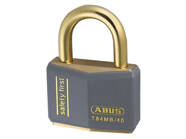 T84MB/40 40mm Grey Safety First Rustproof Padlock