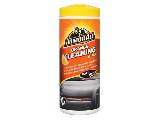 Orange Cleaning Wipes Tub of 30