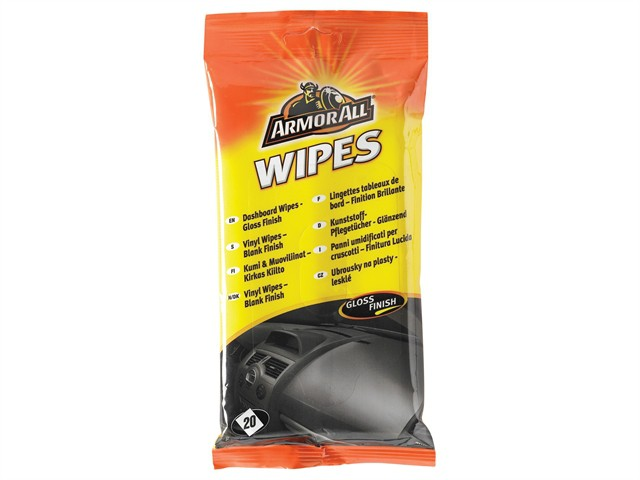 Dashboard Wipes Gloss Pouch of 20