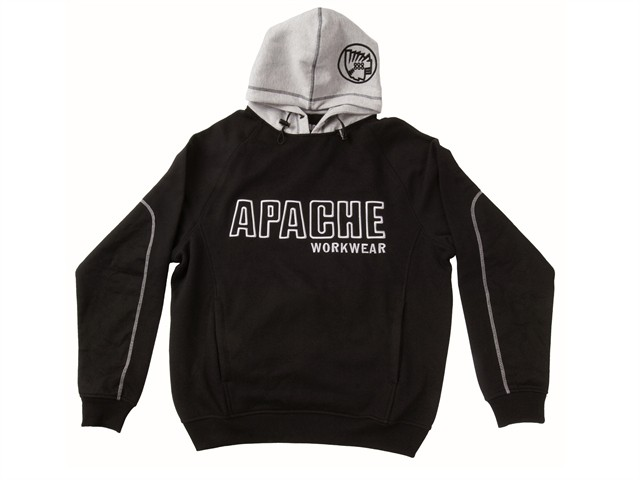 Hooded Sweatshirt Black / Grey - XL (48in)