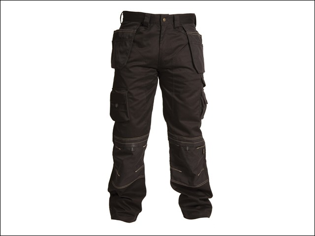 Black Holster Trousers Waist 34in Leg 33in