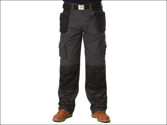 Black & Grey Holster Trousers Waist 34in Leg 33in