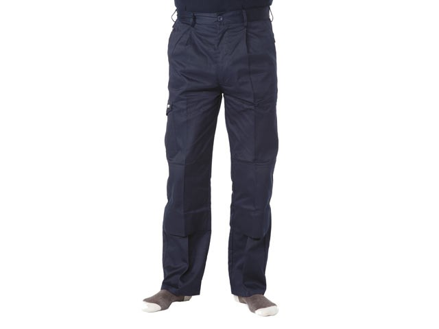 Navy Industry Trousers Waist 34in Leg 33in