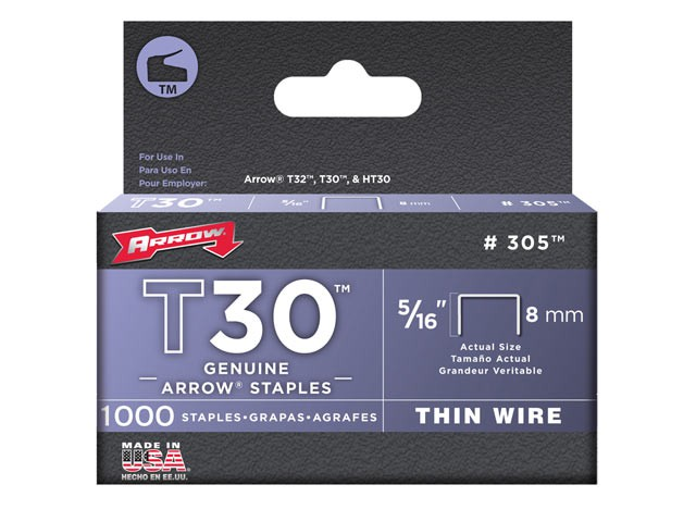 T30 Staples 305IP 8mm (5/16in) Box 5000