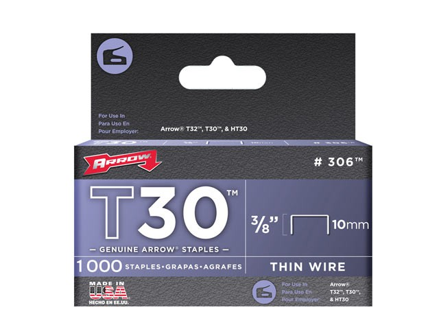 T30 Staples 306IP 10mm (3/8in) Box 5000