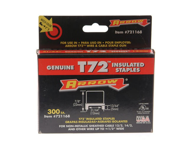 T72HW Insulated Staples 5 x 12mm Box 300
