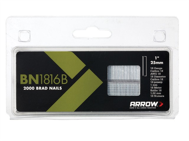 BN1816B Brad Nails 25mm Brown Head Pack 2000