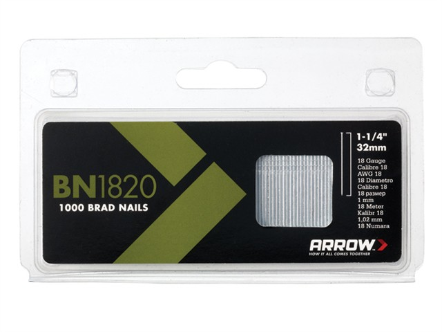 BN1820 Brad Nails 32mm 18g Pack 1000