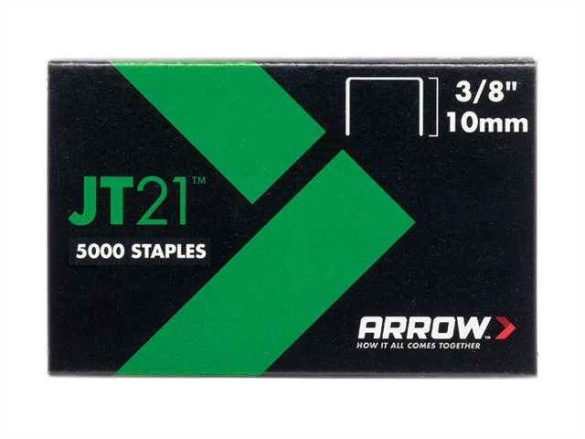 JT21 T27 Staples 10mm (3/8in) Box 5000