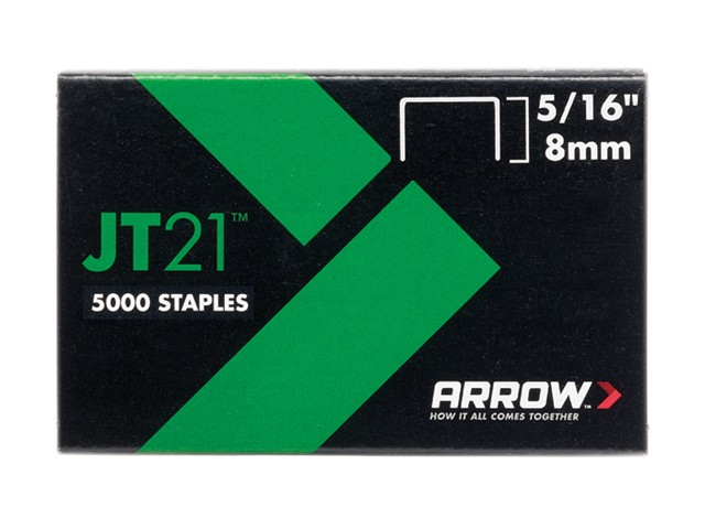 JT21 T27 Staples 8mm ( 5/16in) Box 5000