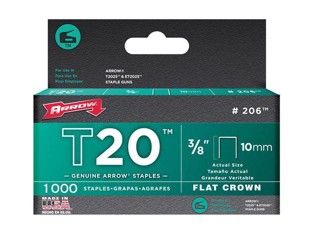 T20 Staples 10mm (3/8in) Box 1000