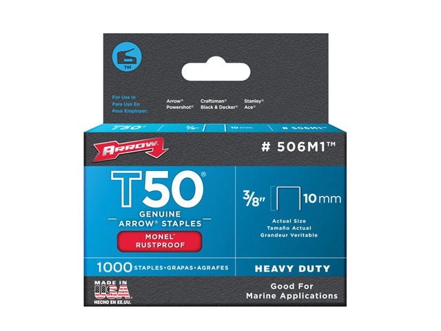 T50M 506m Monel Staples 10mm (3/8in) Box 1000