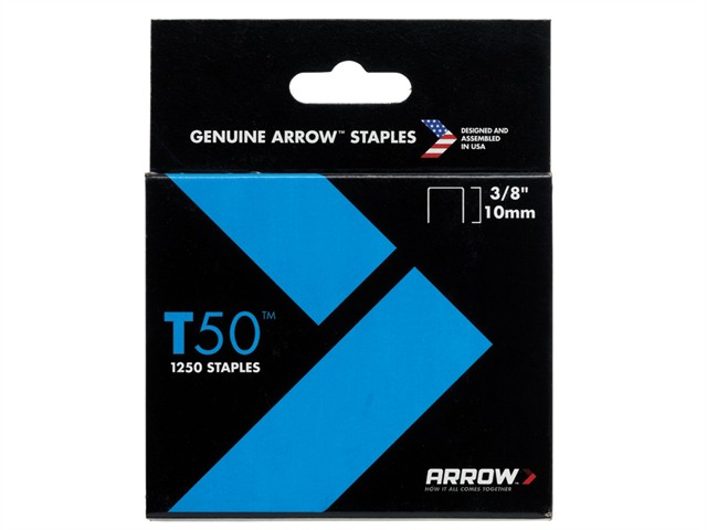 T50 Staples 10mm (3/8in) Box 1250