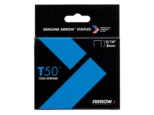 T50 Staples 8mm (5/16in) Box 1250