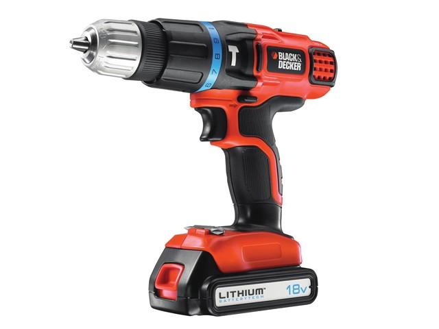 EGBL88K Cordless 2 Speed Combi Hammer Drill 18 Volt 1 x 1.3Ah Li-Ion