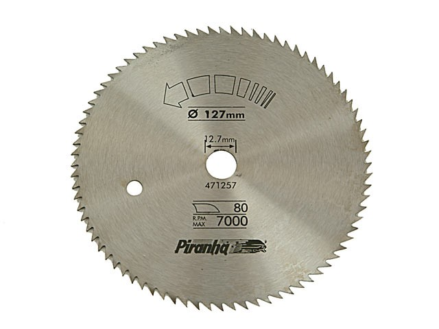 Circular Saw Blade 127 x 12.7mm x 80T Cross Cut