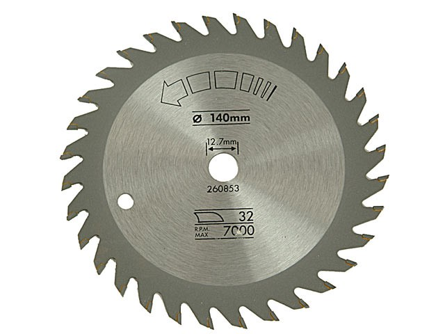 Circular Saw Blade 140 x 12.7mm x 32T Fine Cross Cut
