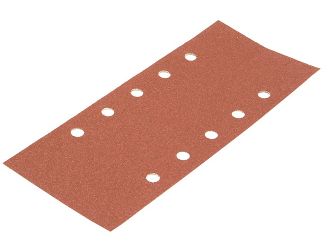 1/2 Sanding Sheets Orbital 115mm x 280mm Punched 100g (Pack of 5)