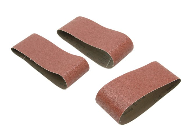 Sanding Belts 75 x 457mm 80g (Pack of 3)