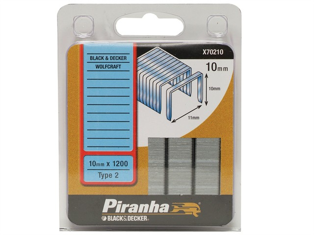X70210 Flat Wire Staples 10mm Pack 1200