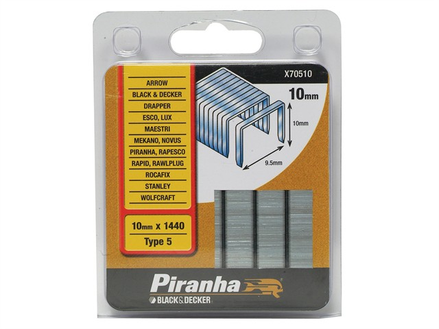 X70510 Flat Wire Staples 10mm Pack 1440