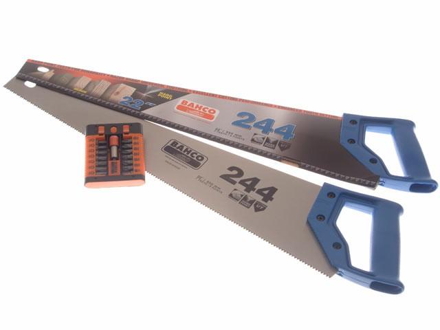 244 x 2 Hardpoint Handsaw 550mm 22in + SB59/S15-2 Bitset