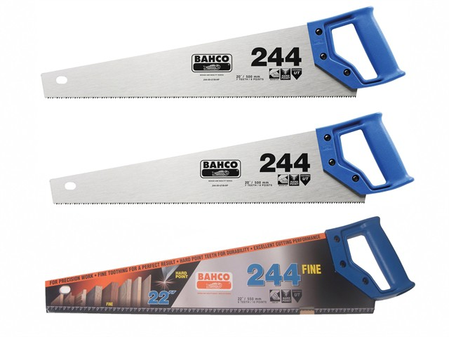 2 x 244 Hardpoint Handsaw 550mm (22in) & 1 x 244 Fine Cut Handsaw 550mm (22in)