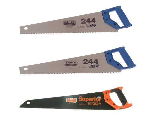 2 x 244-20-HP Handsaw 550mm 22in & 1 x 2600-22-XT-HP Handsaw 550mm 22in